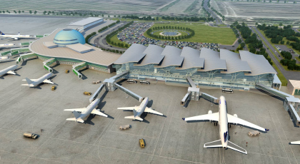 Новый терминал аэропорта Астаны