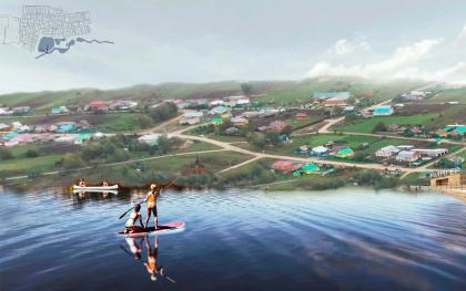 Концепция средовой организации и развития общественных пространств села Мингер