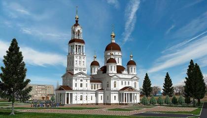 Эскизный проект Спасо-Преображенского собора в Ейске
