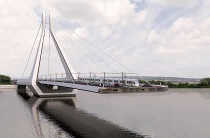 Мост через Дунай в Будапеште