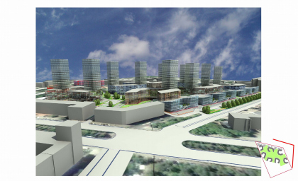 Concept of the block development, Perm, 1st variant