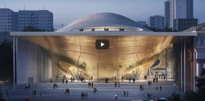 Zaha Hadid Architects показали на видео проект филармонии в Екатеринбурге