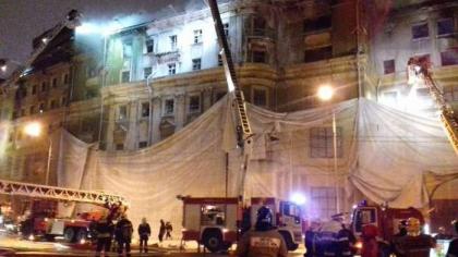 Ночной пожар уничтожил старейший памятник архитектуры в Москве