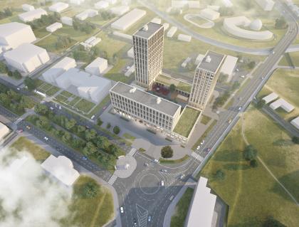 Жилой комплекс со зданием гостиницы в г. Грозный