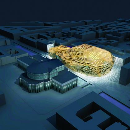 Новое здание Государственного академического Мариинского театра (Мариинка-2). Проект Д. Перро