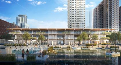 Плавучий энергоэффективный офис по проекту Powerhouse Company пришвартуют в порту Роттердама