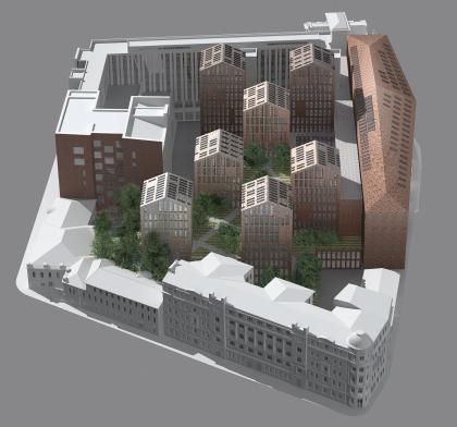 Многофункциональный комплекс «Пушкинский сад» (конкурсное предложение)