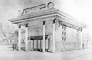 Проект павильона метро «Кировская»
