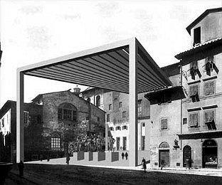 Вестибюль Галереи Уффици во Флоренции