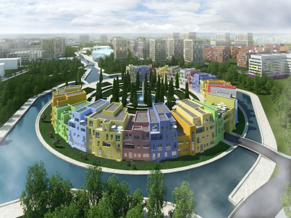 "Master plan of residential complex ""Gardens of cultures"" on Pyatnitskoe highway"