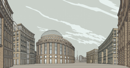 """""""European Embankment"""". Winner project of architectural contest"""
