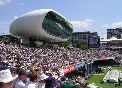 Пресс-центр стадиона Лордс. Фото: hobbs luton via Wikimedia Commons. Лицензия CC-BY-SA-2.0