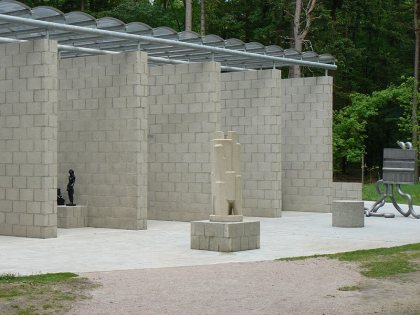 Павильон в парке Музея Крёллер-Мюллер