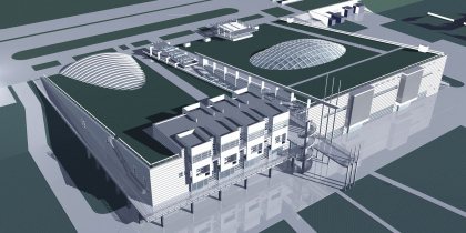 Спортивный комплекс теннисного центра на Ленинградском шоссе (рабочий проект 1998-1999)