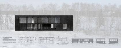 Проект загородного дома в Хлябово. Проект, показанный на выставке Новые имена, Арх Москва - 2009