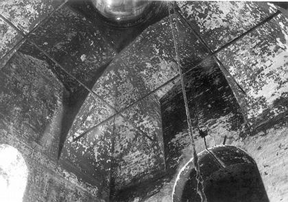 1. Свод церкви Рождества в Юркино. Нач. ХVI в. Фото А.В. Яганова