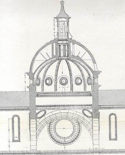 3. Разрез купола церкви Сан Спирито во Флоренции. Середина  ХVI в.
