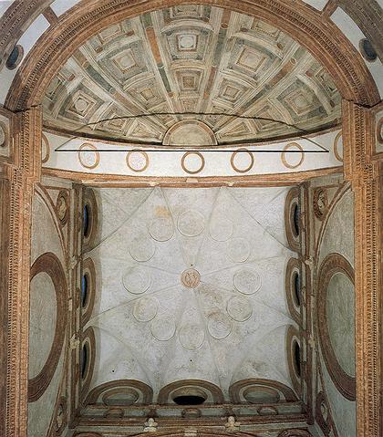 4. Свод хора церкви Санта  Мария  делла Грацие в Милане. После 1492 г. Фото Ф. Танази.