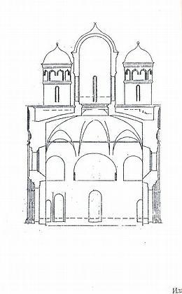 6. Церковь Ризоположения в Суздале. Разрез.