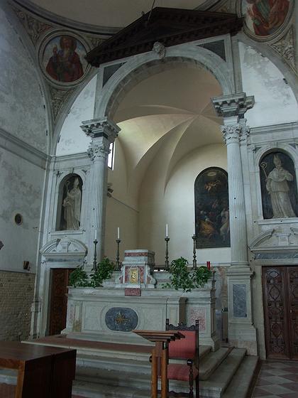 8. Алтарная часть церкви Санта Мария дела Визитационе в Венеции. Фото Вл.В. Седова