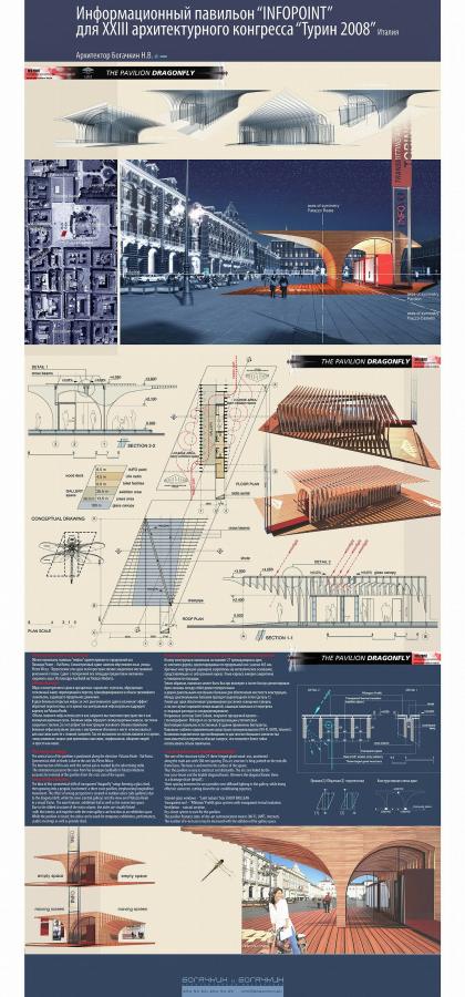 Информационный павильон «INFOPOINT» для XXIII Архитектурного конгресса МСА «Турин - 2008»
