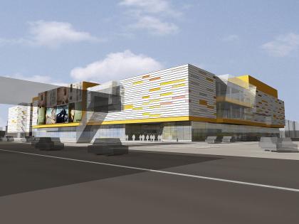 Retail and entertainment complex in Uzhnoe Butovo