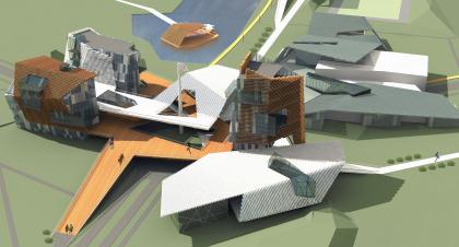 Эскизный проект застройки жилого района «Олимпийский» в городе Краснодар