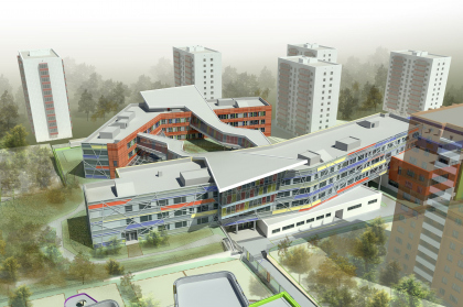 Educational complex which includes high school and the two kindergartens, Schukino