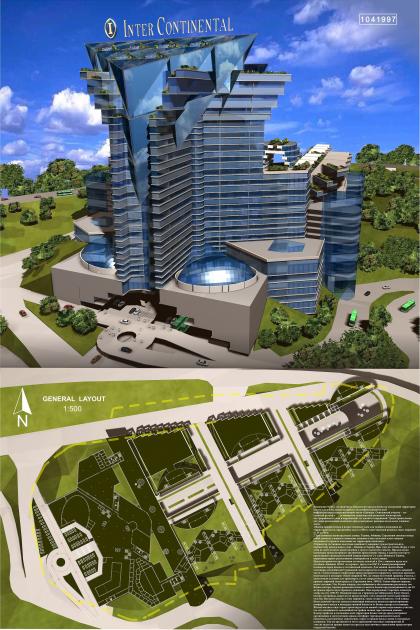 Конкурсный проект многофункционального центра и гостиницы Intercontinental в Ереване