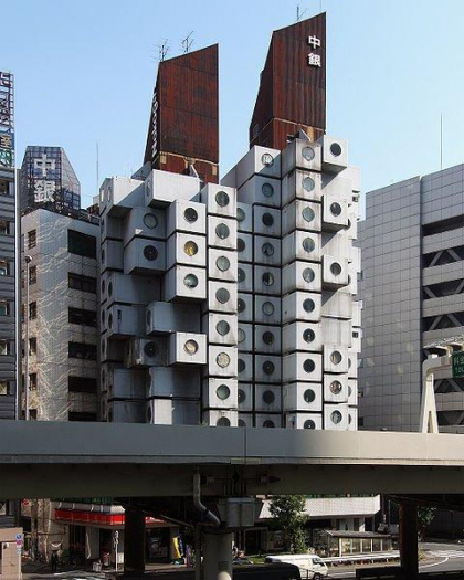 Токио Nakagin Capsule Tower, архитектор Кисе Курокава