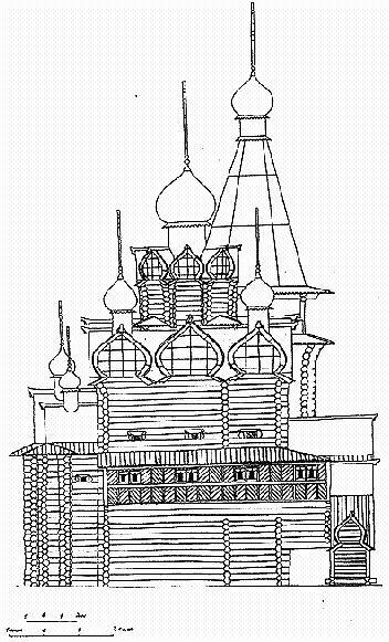 Рис. 2. Собор Софии Премудрости Слова Божия в Тобольске. 1621-1624 гг. Реконструкция А. Ю. Майничевой и В. Н. Курилова.