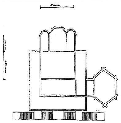 Рис. 4. Софийский собор в Тобольске. 1621–1624 гг. План.