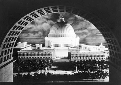 Проект реконструкции Берлина «Германиа». Макет. Купол Народного Дома (Volkshalle) был расчитан на 180000 посетителей. Архитектор: Альберт Шпеер