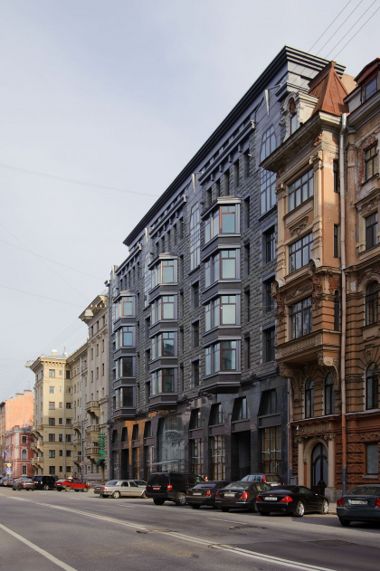 Apartment complex on Tverskaya street in Saint-Petersburg
