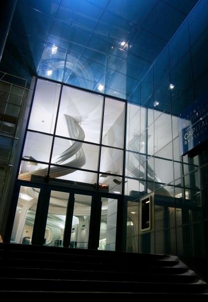 Интерьер входной зоны офисного центра «Капитал Тауэр»