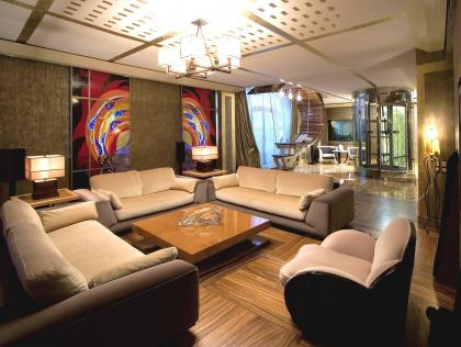 Дизайн интерьера двухэтажного пентхауса