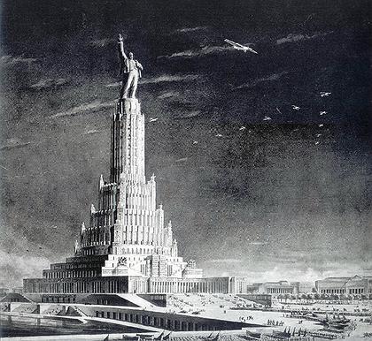 7. Проект Дворца Советов в Москве, Б.М.Иофан, В.А.Щуко, В.Г.Гельфрейх, 1935.