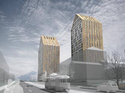 Contest project of de luxe high-rise building in Pyatigorsk