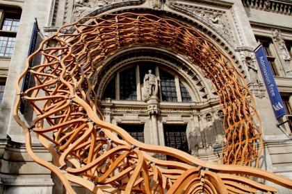 Инсталляция «Деревянная волна»