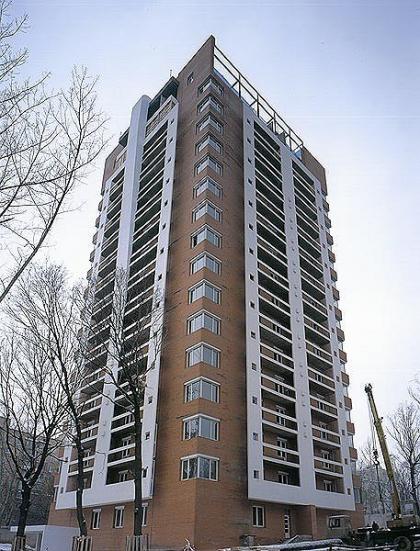 Apartment house on street Gvardeiskaia