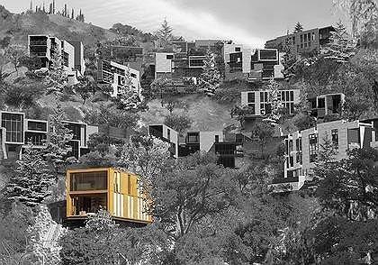 дома на голливудских холмах