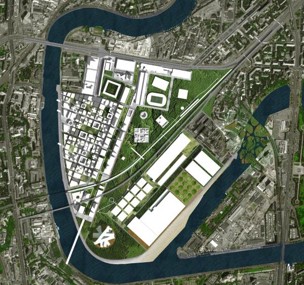 Концепция развития территории завода ЗИЛ, 2013 Архитектурное бюро «Меганом»/предоставлено  IRP Group