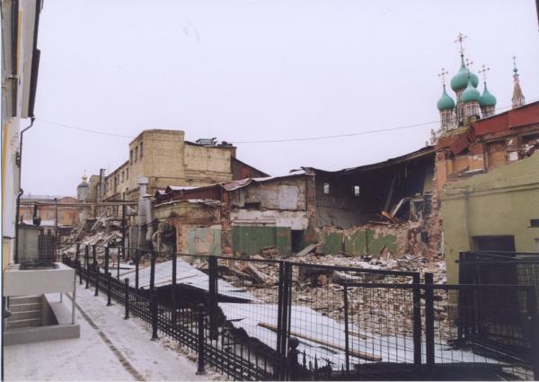 Участок застройки Кадашевской слободы. Существующее положение, 2013 Предоставлено Студией Уткина
