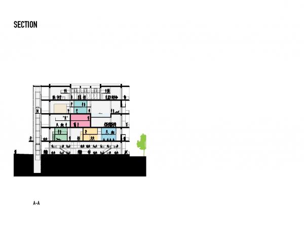 Здание WERK12 © MVRDV