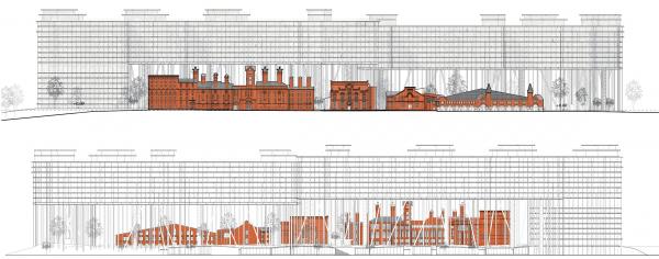 Проект застройки территории Бадаевского пивоваренного завода. Фасады  © Herzog & de Meuron