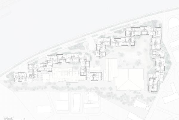 Проект застройки территории Бадаевского пивоваренного завода. Генплан  © Herzog & de Meuron