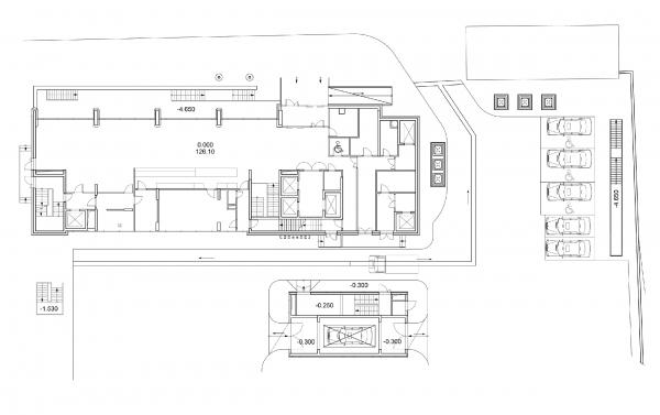 Гостиница Holiday Inn Express на Дубининской улице  © Гинзбург Архитектс