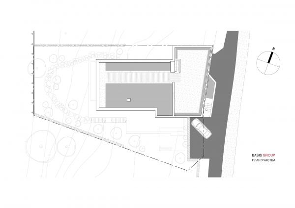 Вилла-BG_019. План участка © Базис Групп