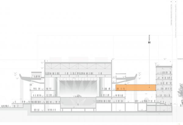 Проект реконструкции Московского Дворца Молодежи   © WALL