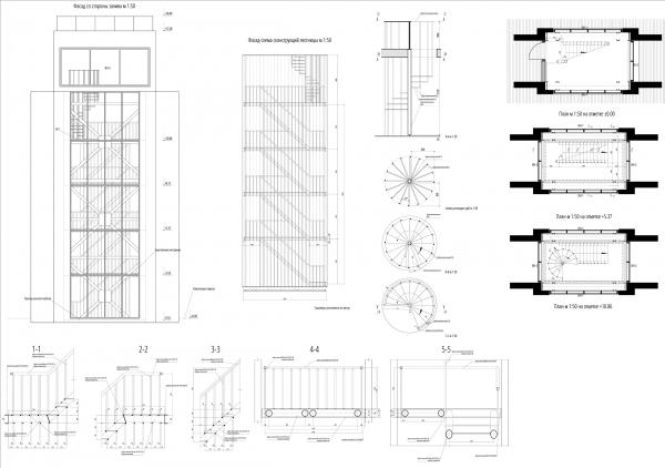 Лестница в опоре на набережной. Севкабель ПОРТ: проект-перспектива нового общественного пространства Проект © бюро Хвоя